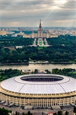 Preview iPhone wallpaper Stadium, Moscow, The world Cup 2018, Russia