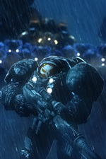 StarCraft, terrano, soldados, chuva