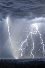 미리보기 iPhone 배경 화면 폭풍, 번개, 구름, 독일
