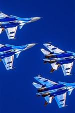 Preview iPhone wallpaper Su-30CM multi-role fighter, flight, sky