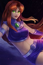 Preview iPhone wallpaper Teen Titans, girl, space, DC comics