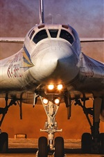 Preview iPhone wallpaper Tu-160 aircraft front view