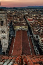 Preview iPhone wallpaper Tuscany, Florence, Italy, city top view, roof