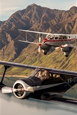 Preview iPhone wallpaper Two aircrafts, biplane