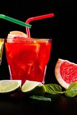 Preview iPhone wallpaper Two cups drinks, lemonade, citrus and lemon