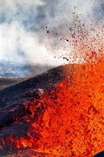 Preview iPhone wallpaper Volcano, stone, magma