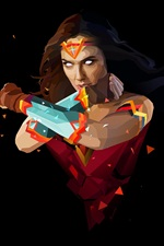 Mulher Maravilha, super-herói, estilo de arte, fundo preto
