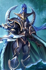 Preview iPhone wallpaper World of Warcraft, warrior, mask