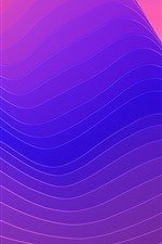 Preview iPhone wallpaper Abstract curves, mountains, creative design