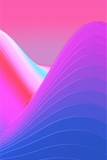 Preview iPhone wallpaper Abstract mountains, purple style