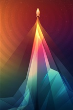 Preview iPhone wallpaper Abstraction, rocket, take off, art picture