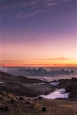 Preview iPhone wallpaper Africa, Kilimanjaro, Tanzania, mountains, snow, clouds