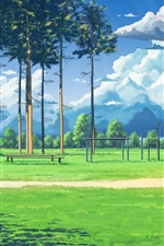 Preview iPhone wallpaper Anime, football playground