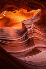 Preview iPhone wallpaper Antelope canyon, rocks, texture