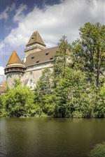 Preview iPhone wallpaper Austria, Castle Heidenreichstein, trees, pond
