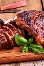 Preview iPhone wallpaper BBQ food, meat, sauce