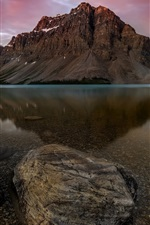 Preview iPhone wallpaper Banff National Park, Canadian Rockies, lake, water, Canada
