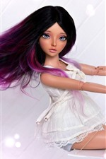 Preview iPhone wallpaper Beautiful purple hair doll girl