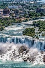 Preview iPhone wallpaper Beautiful waterfalls, Niagara Falls, New York, USA