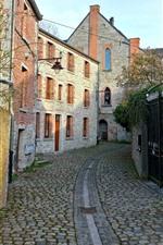 미리보기 iPhone 배경 화면 벨기에, 마을, 거리, 주택