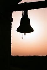 Preview iPhone wallpaper Big bell, window, darkness