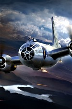 Preview iPhone wallpaper Boeing B-29 Superfortress, attack, war
