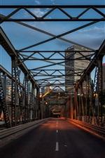 Preview iPhone wallpaper Canada, Alberta, Edmonton, bridge, city, dusk