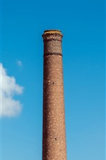 Preview iPhone wallpaper Chimney, blue sky