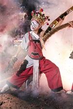 Preview iPhone wallpaper Chinese culture, dance, mask, firecracker