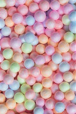 Preview iPhone wallpaper Colorful balls, candy