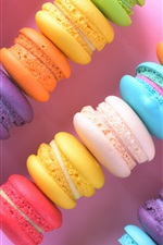 Preview iPhone wallpaper Colorful cakes, macaron