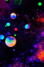 Colorful neon balls, abstract