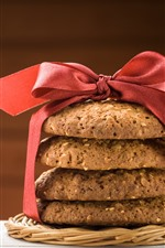 Cookies, red ribbon