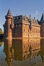 Preview iPhone wallpaper De Haar Castle, Netherlands, water