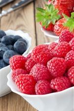 Delicious fruit, strawberry, blueberry, raspberry