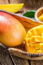 iPhone fondos de pantalla Mango delicioso, fruta fresca