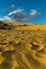 Preview iPhone wallpaper Desert, sand, clouds, sky