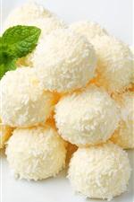 Dessert, balls, glaze, mint