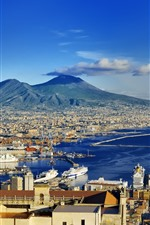 Preview iPhone wallpaper Europe, Italy, Naples, coast, city