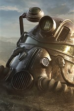Preview iPhone wallpaper Fallout 4, helmet