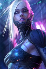 Preview iPhone wallpaper Fantasy girl, cyborg, sci-fi picture