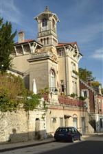 France, Chateau Pierrefonds, castle, city, street