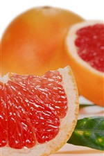 Preview iPhone wallpaper Fruit slice, grapefruit
