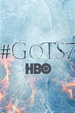 Preview iPhone wallpaper Game Of Thrones, season 7, logo