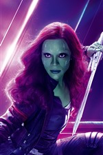 Preview iPhone wallpaper Gamora, Avengers: Infinity War