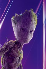 Preview iPhone wallpaper Groot, Avengers: Infinity War