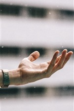 Preview iPhone wallpaper Hand, feeling snowy