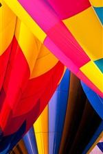 iPhone fondos de pantalla Globos aerostáticos, colores vivos