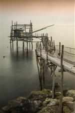 Preview iPhone wallpaper Italy, Pierce, Abruzzo, pier, sea