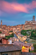 Preview iPhone wallpaper Italy, Tuscany, Siena, city, house, street